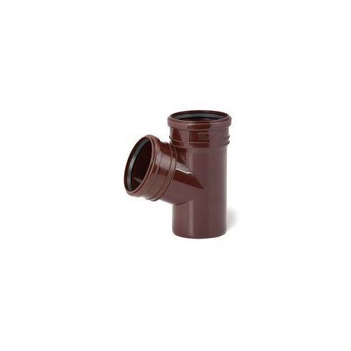 Trójnik Ø110/110/67° brązowy z kategorii Rynny