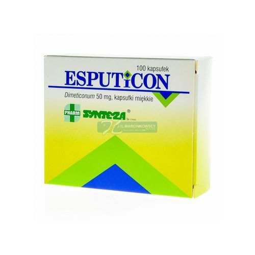 Esputicon 50 mg x 100 kaps, postać leku: kapsułki