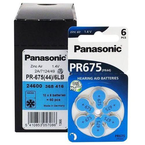 Baterie do aparatów słuchowych 675 6 sztuk marki Panasonic