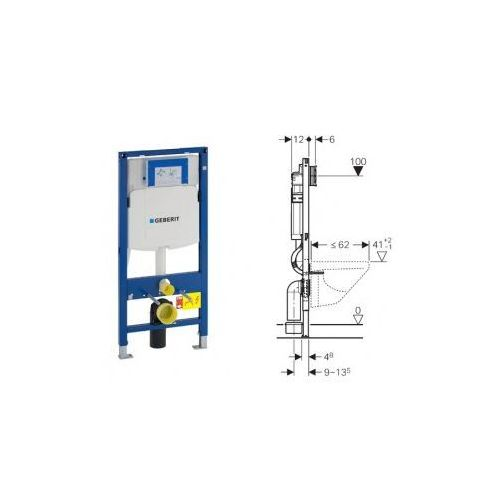 Geberit Duofix do WC, Sigma, H112 111.320.00.5 - produkt z kategorii- Stelaże i zestawy podtynkowe
