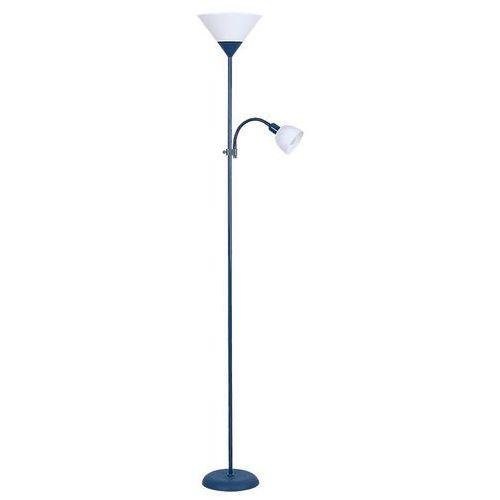 Lampa podłogowa action 4187 lampa stojąca 1x100w e27 + 1x25w e14 niebieski marki Rabalux