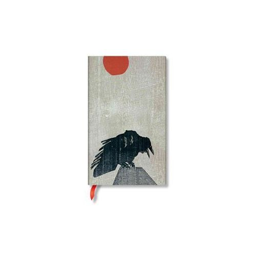 Crow With Red Sun Midi Lined