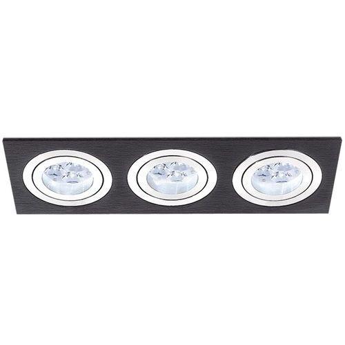 oczko potrójne MINI CATLI aluminium szczotkowane czarne GU5.3, BPM LIGHTING 3056