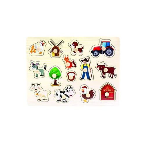 Dřevěné puzzle farma neuveden