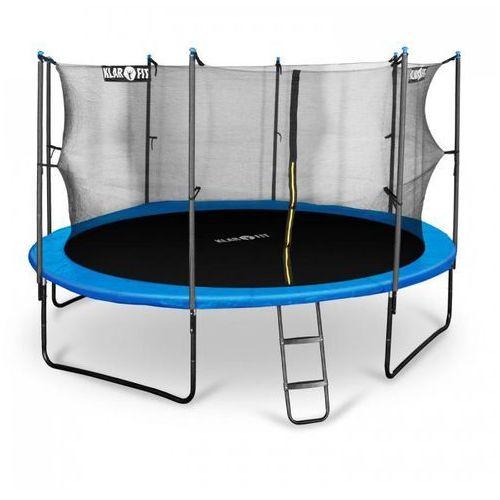 Klarfit rocketboy 430 trampolina 430cm siatka bezpieczeństwa wewnątrz, szeroka drabinka, niebieska