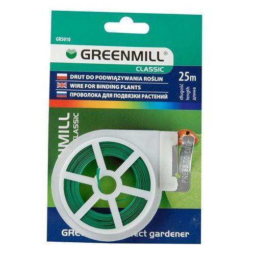 Greenmill Drut ogrodniczy płaski z obcinaczem gr5010