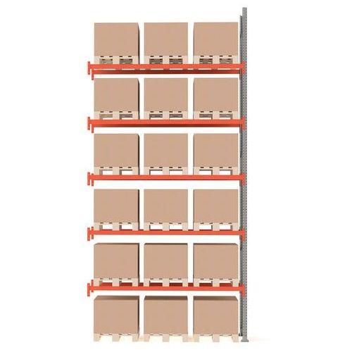 Regał paletowy ultimate, moduł dodatkowy, 6000x2750x1100 mm, 18 palet marki Aj produkty