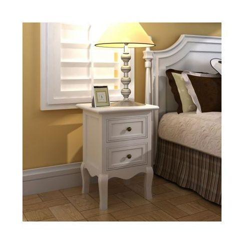 Zestaw dwóch bialych szafek nocnych. - produkt dostępny w VidaXL