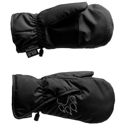 Jack wolfskin easy entry rękawiczka dzieci czarny 116 rękawiczki z jednym palcem (4052936951624)
