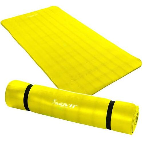 ŻÓŁTA MATA PIANKOWA 190x60x1,5cm DO ĆWICZEŃ / FITNESS - Żółty / 190x60x1,5 cm od Makstor