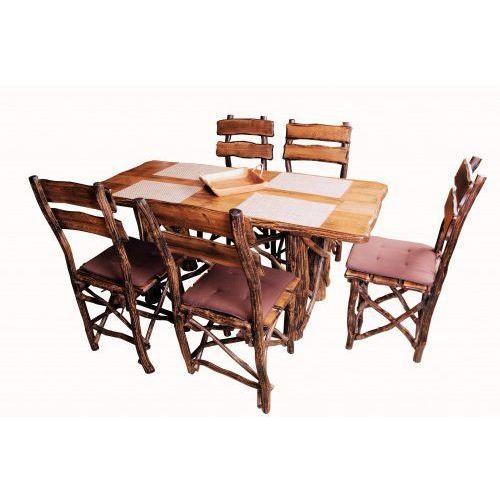 Zestaw stół dębowy + krzesła dębowe RUSTICA z kategorii Zestawy mebli kuchennych