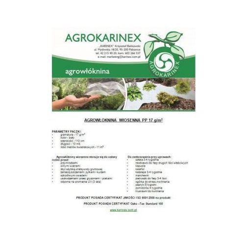 Agrowłóknina wiosenna PP 17 g/m2 biała 1,1 x 10 mb. Paczka o wadze 0,2 kg - produkt z kategorii- folie i agrowłókniny