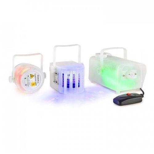 Ibiza Clear-pack zestaw efektów świetlnych laser firefly effekt derby 400w wytwornica mgły