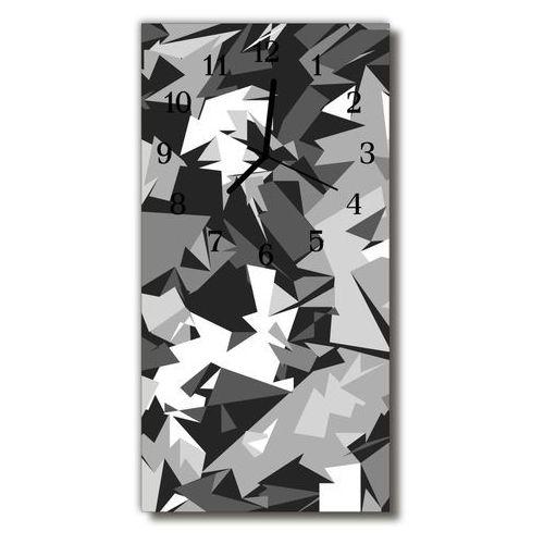 Zegar szklany pionowy sztuka grafika geometria szary marki Tulup.pl