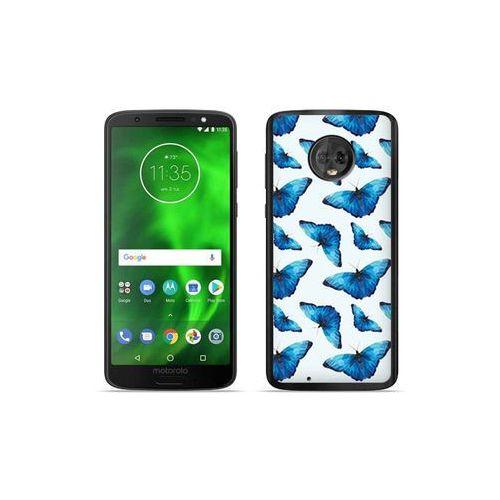 Motorola moto g6 - etui na telefon fantastic case - niebieskie motyle marki Etuo fantastic case