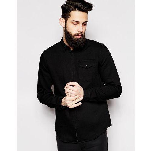 2xH Brothers Zip Shirt - Black - sprawdź w ASOS