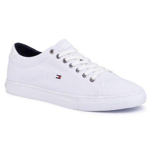 Tenisówki - seasonal textile sneaker fm0fm02687 white ybs, Tommy hilfiger, 40-46