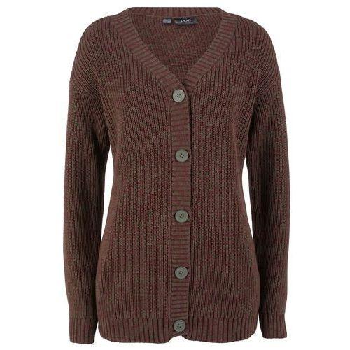 Sweter z asymetryczną linią dołu, długi rękaw bonprix biel wełny