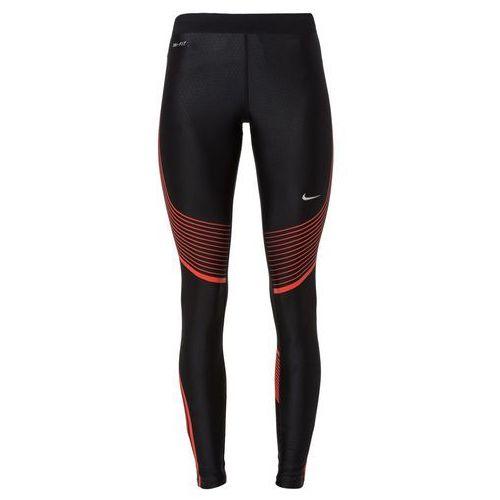 Nike Performance POWER SPEED Legginsy black/light crimson/reflective silver, rozmiar od 34 do 42, czarny