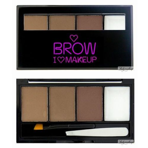 Makeup revolution i heart makeup - brow kit i woke up this groomed - zestaw do brwi (5029066028891)