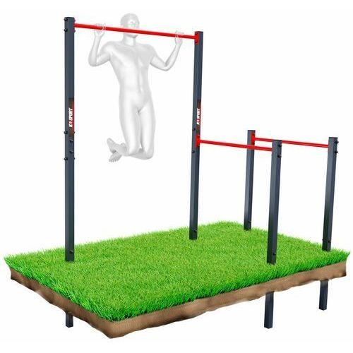Drążek+poręcz do podciągania zewnętrzny ogrodowy-street workout ksoz003 marki K-sport