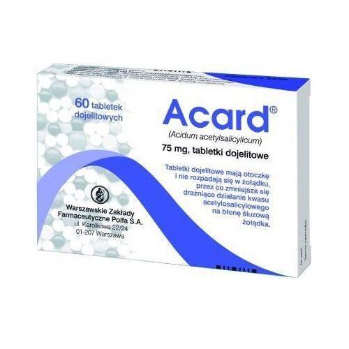 Polfa warszawa Acard 75mg x 60 tabletek, kategoria: pozostałe zdrowie