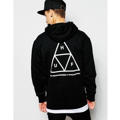 HUF Triple Triangle Hoodie - Black, kolor czarny