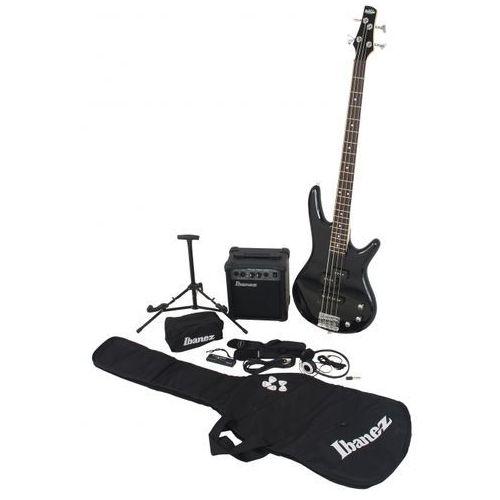 ijsr 190 bk jumpstart gitara basowa 4 strunowa + wzmacniacz + pokrowiec marki Ibanez