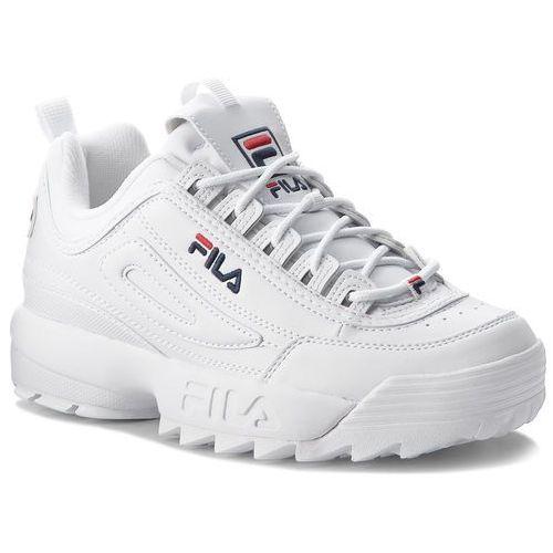 Sneakersy FILA - Disruptor Low 1010262.1FG White, kolor biały