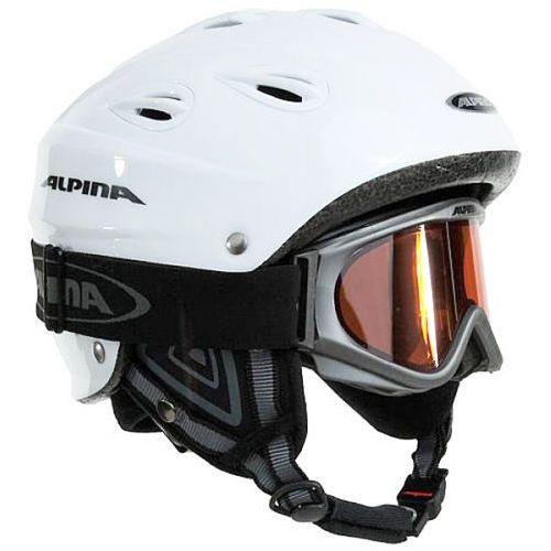 Alpina Kask narciarski junta set r. 57-61 cm + golge alpina freespirit