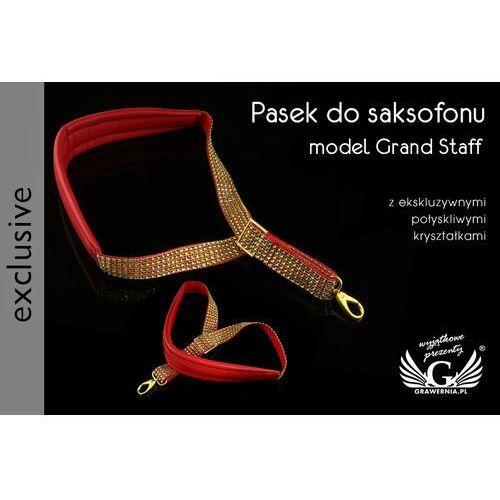 PASEK DO SAKSOFONU czerwono-złoty - model Grand Staff - wersja Exclusive - PDS25