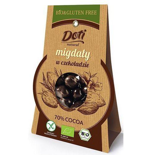 Migdały w czekoladzie deserowej bio 50g. - marki Doti