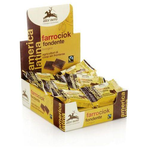 Herbatniki orkiszowe z gorzką czekoladą bio 28g marki Alce nero