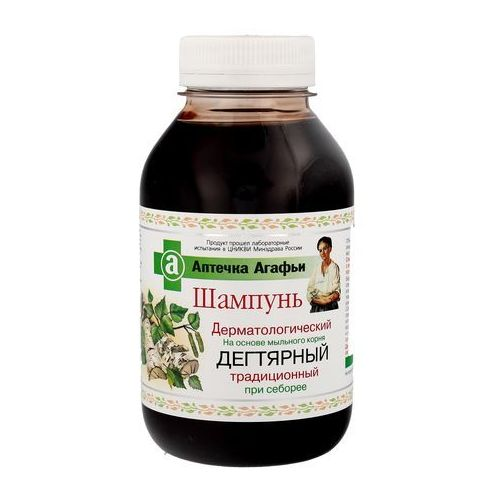 Apteczka agafii - szampon dermatologiczny dziegciowy tradycyjny przy łojotoku (4607040313587)