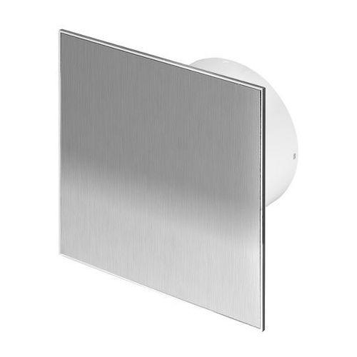 Cichy wentylator łazienkowy Silent + Wymienne Panele Czołowe Różne Funkcje: Higro,Timer Model: Włącznik pociągany, Średnica: 100 mm, Panel frontowy: Inox