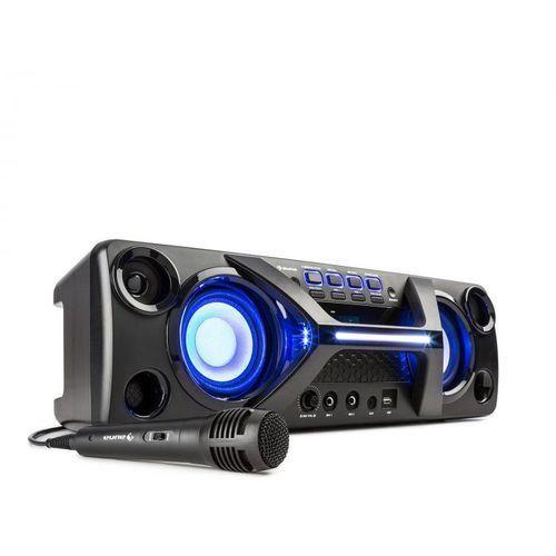 Auna Ultrasonic BT Boombox Bluetooth 2x 20 W wyświetlacz LCD funkcja karaoke kolor czarny (4060656103056)
