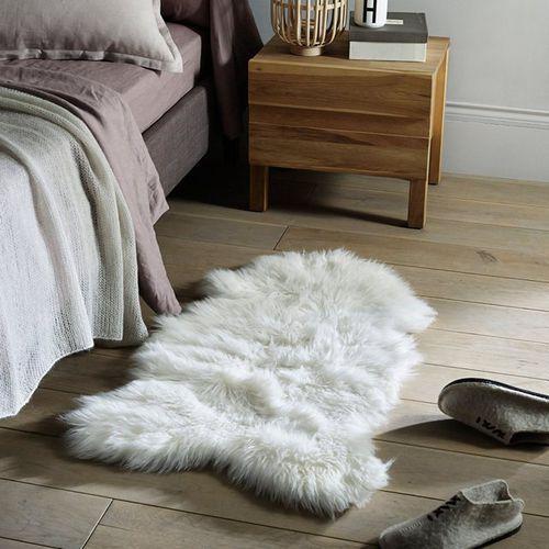 Dywanik przed łóżko, skóra barania, Livio - oferta [05ef2e7af72144d2]