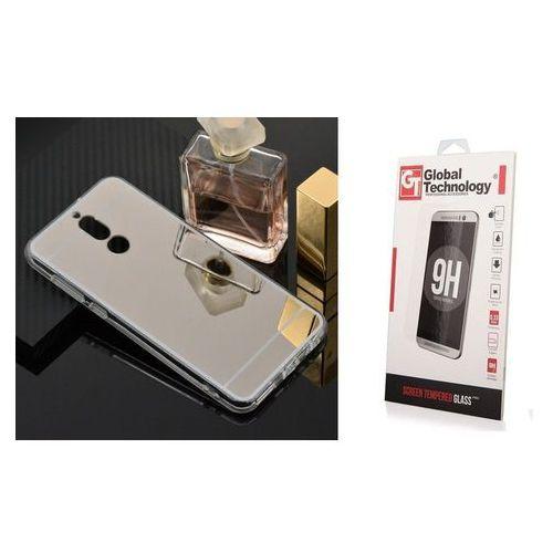 Zestaw | Slim Mirror Case Srebrny | Etui + Szkło ochronne Perfect Glass dla modelu Huawei Mate 10 Lite