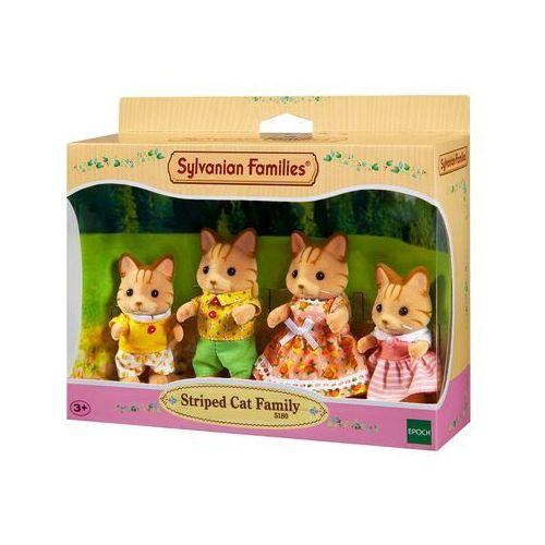 Sylvanian Families, rodzina pręgowanych kotków, zestaw figurek - produkt dostępny w Smyk