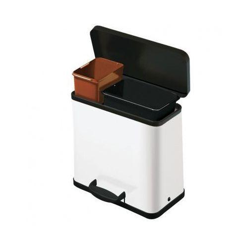 B2b partner Kosz z pedałem do segregacji odpadów trento öko 17+9, biały