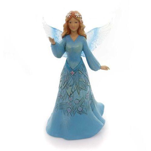 Jim shore Anioł świateczny - zimowy wonderland snowflake angel 4053672 figurka ozdoba świąteczna