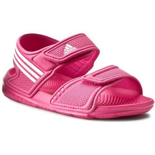Sandały adidas - Akwah 9 K AF3871 Eqtpin/Ftwwht/Ftwwht ze sklepu eobuwie.pl