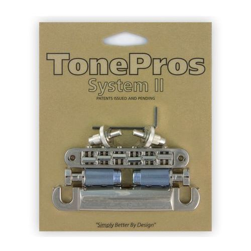 Tonepros lps02-n - bridge and tailpiece set, mostek do gitary, niklowany