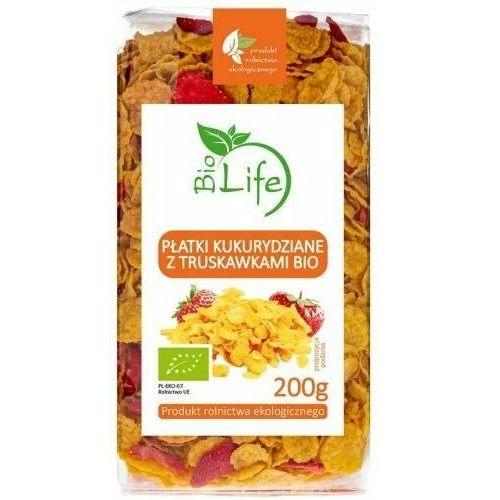 Płatki kukurydziane z truskawkami 200g - biolife marki 101biolife