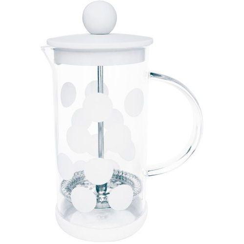 Zak! designs Mała kawiarka french press dot dot 0,35 litra biała