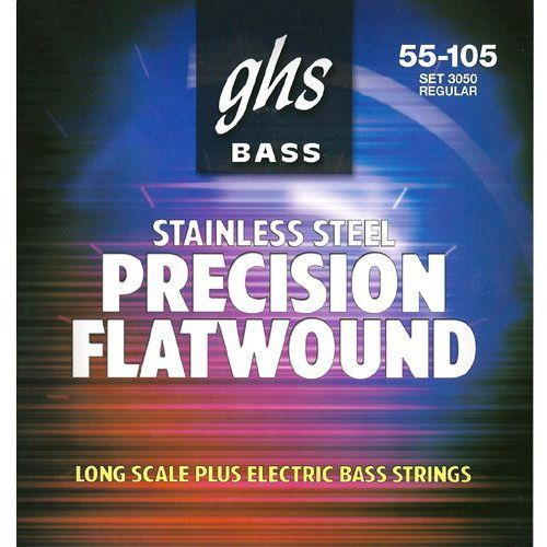 GHS Precision Flatwound struny do gitary basowej, 4-str. Regular,.055-.105