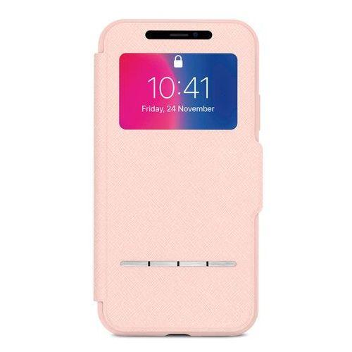 Moshi sensecover - etui z klapką dotykową + folia na ekran iphone x (luna pink) (4713057252488)
