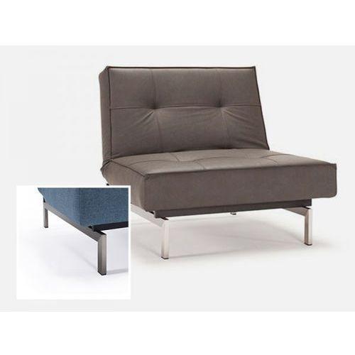 Fotel Splitback brązowy 592 nogi stalowe  741011592-741011-8-2, marki INNOVATION iStyle do zakupu w sfmeble.pl