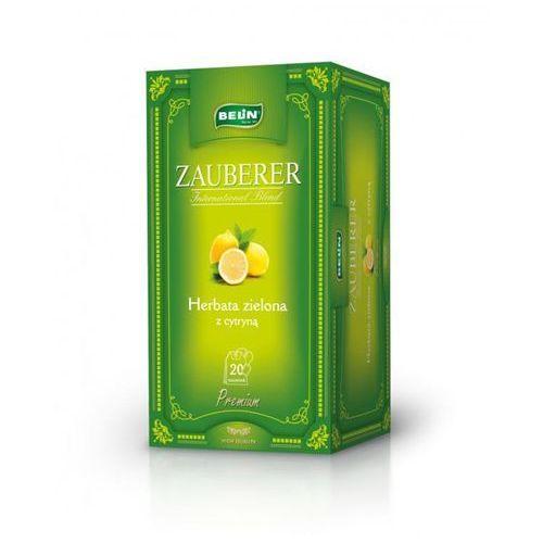 . herbata zielona o smaku cytryny koperta 40 szt. marki Zauberer