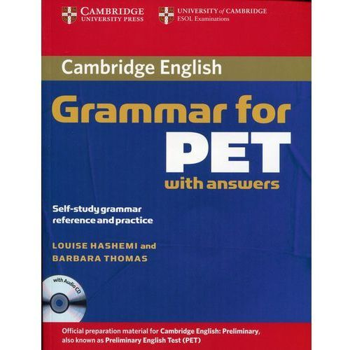 Cambridge Grammar for PET, Edition with Answers and Audio CD (9780521601207)
